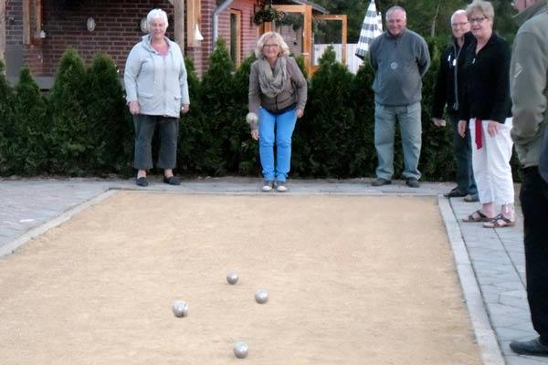 Ontspannen spelletje jeu de boules